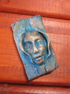 Weathered face pendant/bead connector by chrispellowdesigns, £4.50
