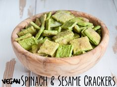 Spinach & Sesame Crackers
