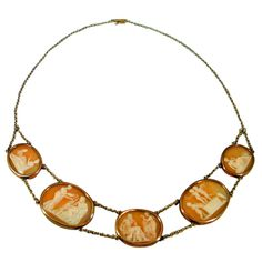 Antique Shell Cameo Necklace, 1820