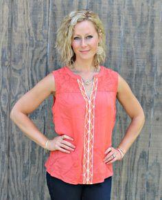June Stitch Fix Review - Skies are Blue Arlene Embroidered Top #stitchfix