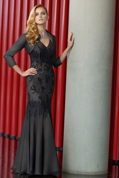 Floor Length Chiffon  2012 Collection Black  Mother Of The Bride Dresses