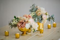 Mercury Glass Bowl in Gold | Floral and Wedding Containers | Hassle Free Shipping