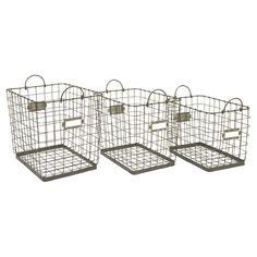 Wire Baskets.