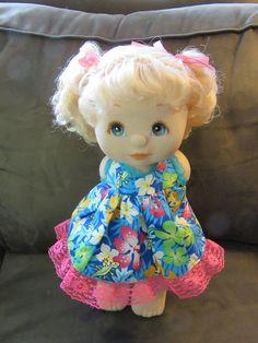 Mattel My Child Doll Peachy Skin Canadian Platinum/Blue with Dress