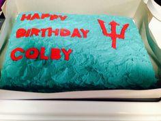 Percy Jackson theme birthday cake