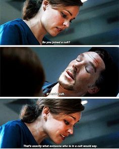 When Christine finds out Strange joined the Avengers in Infinity War Marvel Funny, Marvel Memes, Marvel Dc Comics, Marvel Avengers, Doctor Strange Quotes, Dr Stange, Aesthetic Doctor, Benedict Cumberbatch, Sherlock Cumberbatch