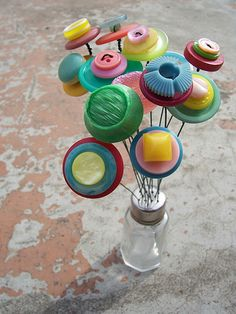 Button Bouquets by whimsylove, via Flickr
