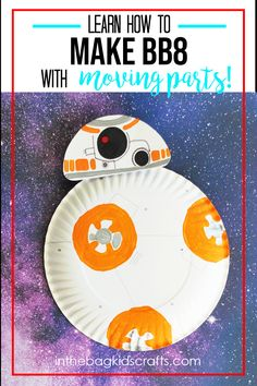 BB8 CRAFT FOR KIDS Space Crafts For Kids, Diy Crafts For Kids Easy, Paper Plate Crafts For Kids, Animal Crafts For Kids, Summer Crafts For Kids, Craft Projects For Kids, Craft Activities For Kids, Preschool Crafts, Kids Crafts