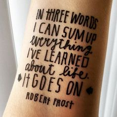 Frost Quote Temporary Tattoo $3