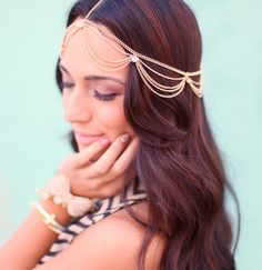 Boho Draping Head Chain