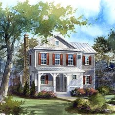 Striper's Cottage Plan #1388 | Here's a warm and inviting year-round retreat where friends and family can relax.