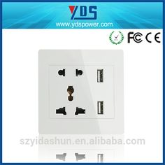 multiple function Dual USB Port Electric Wall Charger Dock Socket Power Outlet Panel Plate