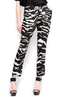 Mango Womens Zebra Print Trousers