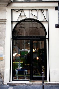 Vincent darre at home and at his shop maison darre in paris store fronts фа Design Garage, Shop Front Design, Exterior Design, Exterior Signage, Gym Design, Design Ideas, Shop Interior Design, Retail Design, Store Design