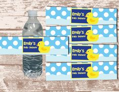 duck theme baby shower | PRINTABLE PDF Rubber Duck Theme Birthday/ Baby Shower Custom Water ...