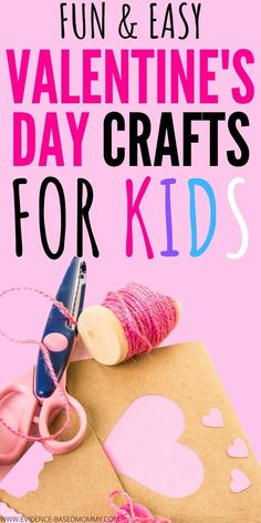 Find simple crafts for Valentine's Day for your kids to make! Great fun toddler activities for winter days. Easy crafts for preschoolers Easy Toddler Crafts, Valentine's Day Crafts For Kids, Crafts To Do, Simple Crafts, Fun Activities For Preschoolers, Outdoor Activities For Kids, Toddler Activities, Valentines Day Activities, Valentines Day Party