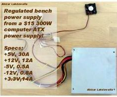 Convert a Computer ATX Power Supply to a Lab Power Supply - wikiHow Electronic Circuit Projects, Electronics Projects, Lab Power Supply, Tao, Electrical Circuit Diagram, Computer Supplies, Foam Cutter, Electrical Tape, Cool Lettering
