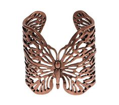 Love the cutout detail on this Wildlife by @Heidi Klum Open Work Butterfly Cuff.