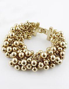 Gold Bead Link Bracelet
