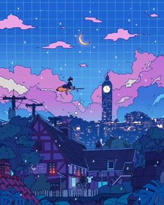 Some Ghibli animation! Hope this helps you guys who are about to sleep. ✨ Some Ghibli animation! Hope this helps you guys who are about to sleep. Totoro, Anime Scenery Wallpaper, Cute Anime Wallpaper, View Wallpaper, Retro Wallpaper, Live Wallpapers, Animes Wallpapers, Aesthetic Art, Aesthetic Anime