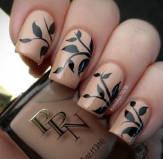 Accurate nails, Black nails ideas, Cofee nails, Coffee nails, Decor for nails…
