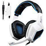 #10: [2016 New Updated]Sades SA920 Wired Stereo Gaming Headset Over Ear Headphones with Microphone for Xbox One / Xbox 360 / PS4 / PC /Cell phones / iPad(Black/White)