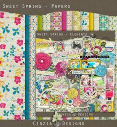 Sweet Spring Kit by Cinzia Designs