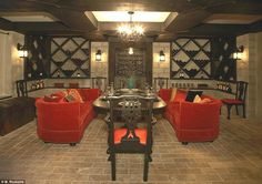 Adults only: The wine cellar complete with cozy tasting table