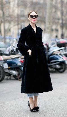 Ulyana Sergeenko. Paris Fashion Week, Fall 2015.
