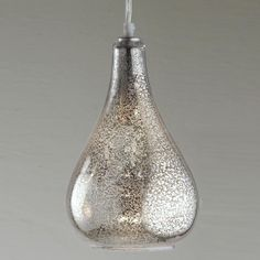 Mercury Glass Pendant Light Fixture Captivating Mercuryglass 1Light Pendant  Pendant Lighting Bulbs And Pendants Review