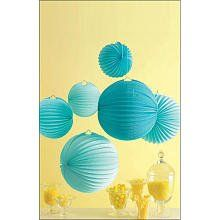 Martha Stewart Crafts Celebrate, Blue Accordion Lanterns Party Decorations