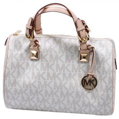 Gotta see this beautiful MICHAEL KORS Grayson Sizable Emblem Satchel Womens Purse