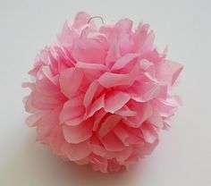 Tissue paper flower pom-pom how to
