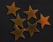 6 copper stars for crafts $3.00