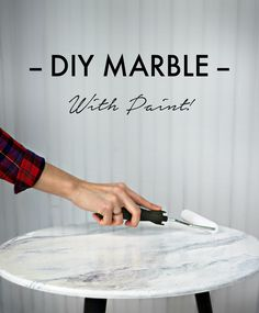 If you are loving the current marble trend, but the real deal isn't in the budget-- Paint your own! This DIY marble finish technique is super easy and looks just like real stone! Painted with the Giani™ White Diamond Kit.