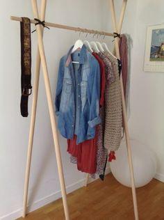 DIY: 15 ideas to make your own wardrobe - Bamboo Furniture, Rustic Furniture, Diy Furniture, Diy Dressing, Diy Room Decor, Bedroom Decor, Home Decor, Bedroom Ideas, Diy Clothes Rack