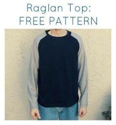 Patrón camiseta raglan hombre gratis