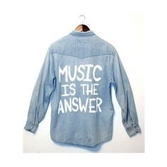 MUSIC IS THE ANSWER Vintage LEVI'S Denim Shirt - SMALL - 00807