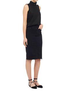 Nobody Denim - Cult Longline Pencil Skirt - Raw Black