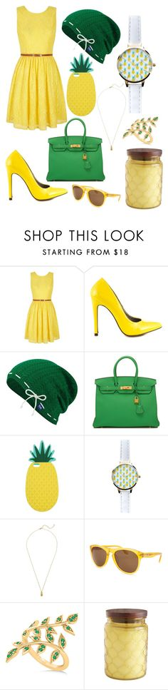 """""""Pineapple chic"""" by sparklequeen101 ❤ liked on Polyvore featuring Yumi, Michael Antonio, Keds, Hermès, Miss Selfridge, New Look, Estella Bartlett, Calvin Klein, Allurez and Pier 1 Imports"""
