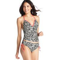 Available at Ann Taylor Loft. Butterfly Print Halter Tankini Top - With an amazingly glam butterfly print, this neon-piped halter style flaunts a chic graphic pop from afar—and girly sweetness up close.