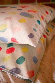 Two sweet pillow cases for the girls. The fabric - Paint Colour - is one of our new and...