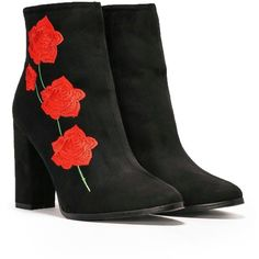 Nasty Gal Surrender into the Roses Vegan Suede Boot ($70) ❤ liked on Polyvore featuring shoes, boots, synthetic leather boots, zipper boots, vegan shoes, zip shoes and nasty gal shoes