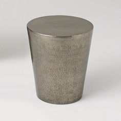 Hammered Side Table - Nickel