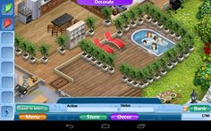 Pool Virtual Families 2, Home And Family, Gaming, Geek, House Design, Mansions, House Styles, Ideas, Videogames