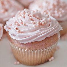 Pink champagne cupcakes with pink champagne frosting.  Hmm intriguing!