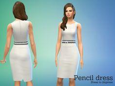 Angela's White Pencil Dress