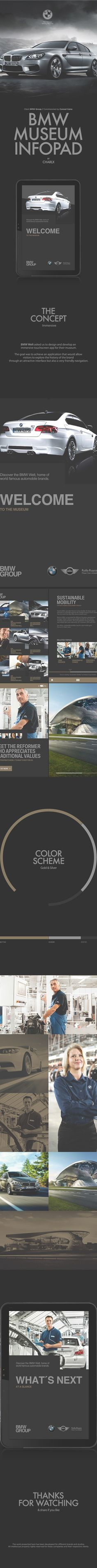 BMW MUSEUM INFOPAD on Behance