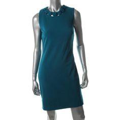 Diane Von Furstenberg Womens Ayanna Ponte Sleeveless Wear to Work Dress