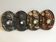 Mickeys in different finishes.
